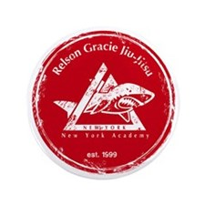 """gracie logo distressed red 3.5"""" Button"""