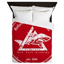 gracie logo distressed red Queen Duvet