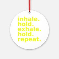 inhale Round Ornament