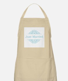 Just married in blue Apron