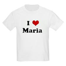I Love Maria  Kids T-Shirt