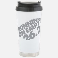 Running on Empty 2 Gray Stainless Steel Travel Mug
