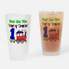 Party Train One Year Old Drinking Glass