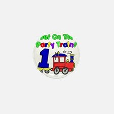 Party Train One Year Old Mini Button