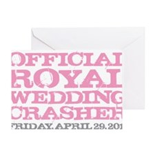 Royal Wedding Crasher Pink Greeting Card