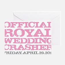 Royal Wedding Crasher Pink Greeting Card