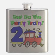 Get On The Party Train 2 Year Old Flask