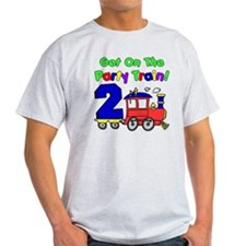 Get On The Party Train 2 Year Old T-Shirt