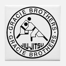 gracie bros bw Tile Coaster