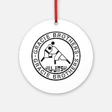 gracie bros bw Round Ornament