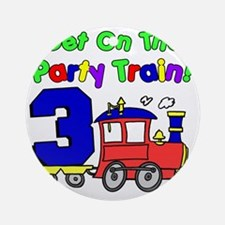Get On Board The Party Train 3 Year Round Ornament