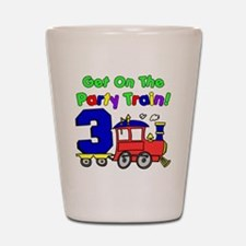Get On Board The Party Train 3 Year Old Shot Glass