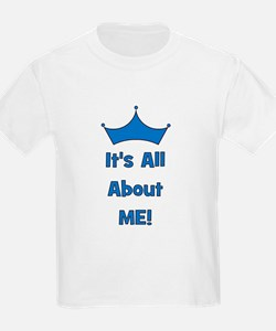 It's All About Me! Blue Kids T-Shirt