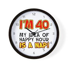 Im 40 Happy Hour Wall Clock