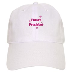 Future President - Pink Baseball Cap