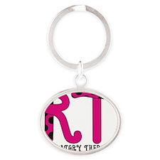 RT 2011 Fuschia Oval Keychain