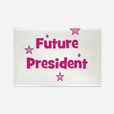 Future President - Pink Rectangle Magnet