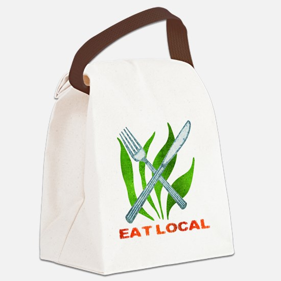 eatLocalUtensils Canvas Lunch Bag
