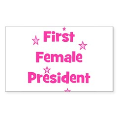 First Female President Rectangle Decal