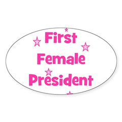 First Female President Oval Decal
