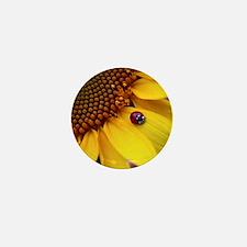 Ladybug on Sunflower1 Mini Button