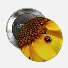 "Ladybug on Sunflower1 2.25"" Button"