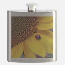 Ladybug on Sunflower1 Flask