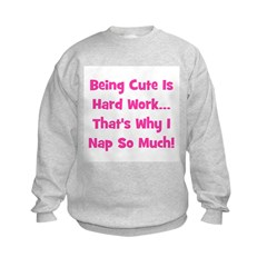 Being Cute Is Hard - Pink Sweatshirt