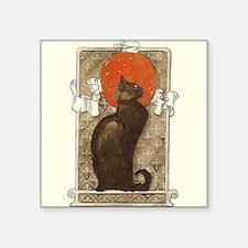 """steilen_chatNoirRed Square Sticker 3"""" x 3"""""""