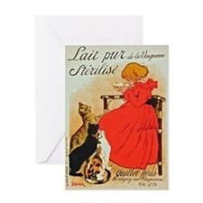 Steinlen_Lait Greeting Card
