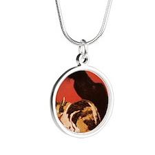 steinlen_lesChats Silver Round Necklace