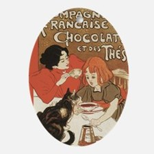 steinlen_chocolats Oval Ornament