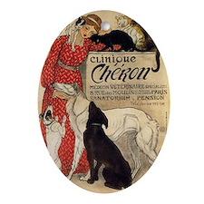 steinlen_cheron Oval Ornament