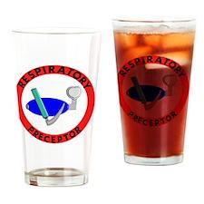 RESPIRATORY PRECEPTOR RED Drinking Glass