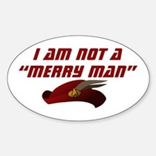 star-trek-not-a-merry-man Sticker (Oval)