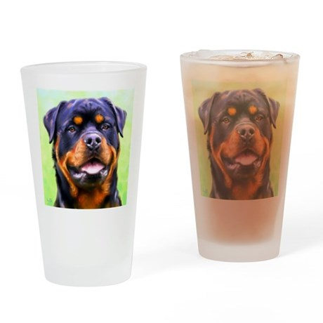 rottweiler1-sq Drinking Glass