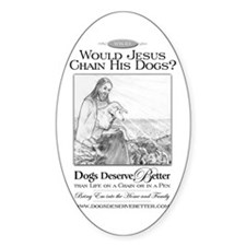 Would Jesus Chain Oval Decal