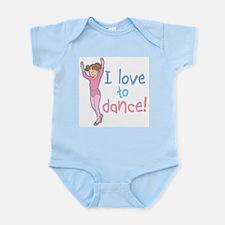 Love Dance Ballet Girl 1 Infant Bodysuit