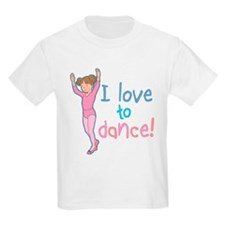 Love Dance Ballet Girl 1 Kids T-Shirt