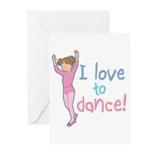 Love Dance Ballet Girl 1 Greeting Cards (Package o