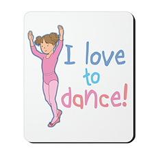 Love Dance Ballet Girl 1 Mousepad