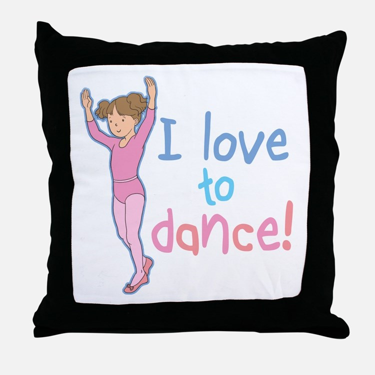 Love Dance Ballet Girl 1 Throw Pillow