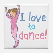 Love Dance Ballet Girl 1 Tile Coaster