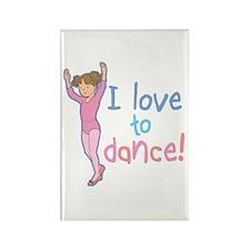 Love Dance Ballet Girl 1 Rectangle Magnet