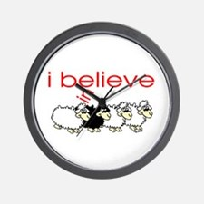 I believe in Sheep Wall Clock