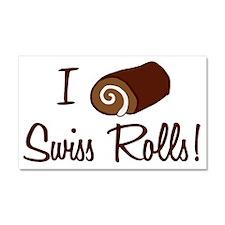 i-love-swiss-rolls_tr Car Magnet 20 x 12