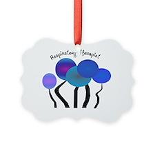 Respiratory Therapist BLUE TREES Ornament