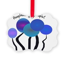 Respiratory Therapist BLUE TREES Picture Ornament