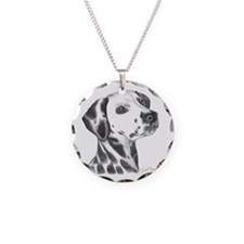 Dalmatian Necklace Circle Charm