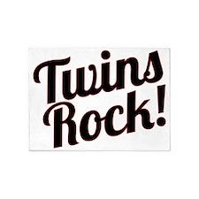 TwinsRock1 5'x7'Area Rug